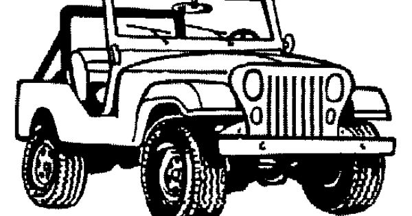 Jeep Black And White Clipart.