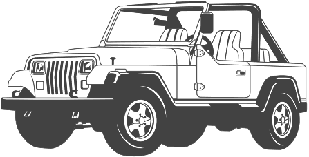 Jeep clipart black and white, Jeep black and white.