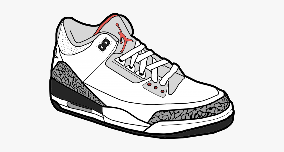Gym Shoes Clipart Jordan.