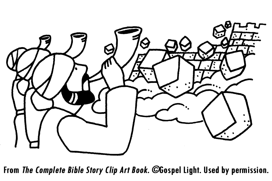 Fantastic Joshua Fought The Battle Of Jericho Coloring Page.