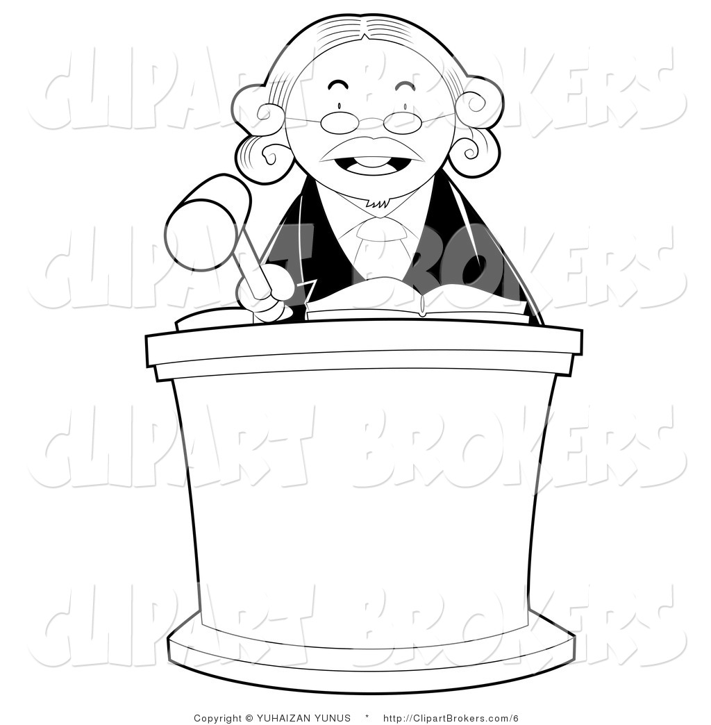 Judge clipart black and white, Judge black and white.