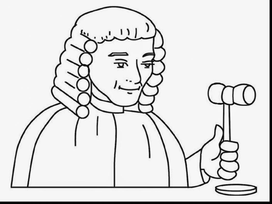 The best free Judge coloring page images. Download from 26.
