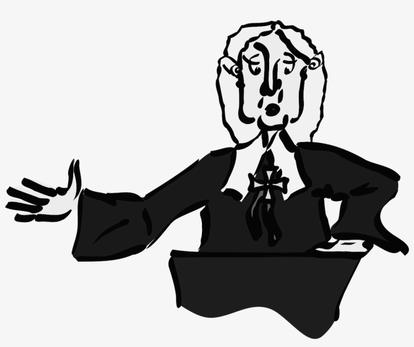 Clip Art Library Stock Judge Clipart Black And White.