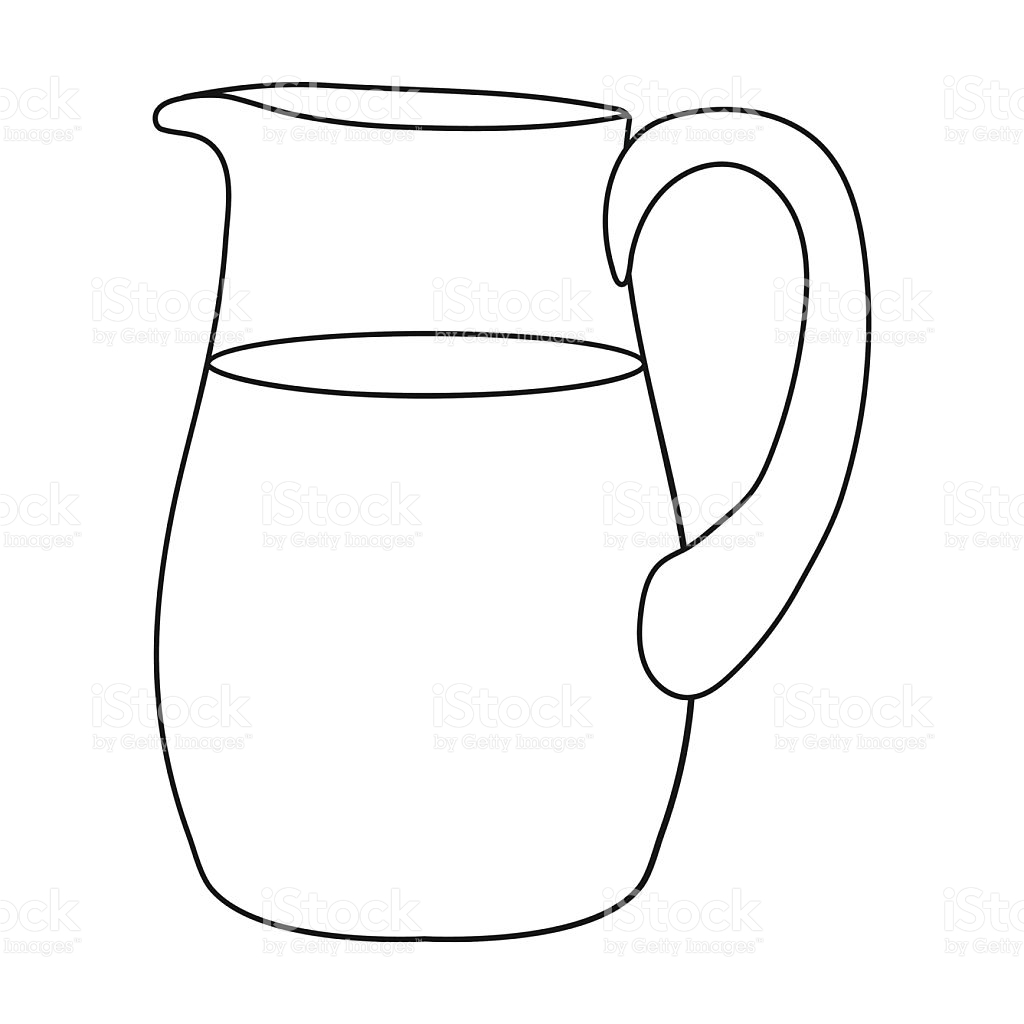 Jug Clipart Black And White.