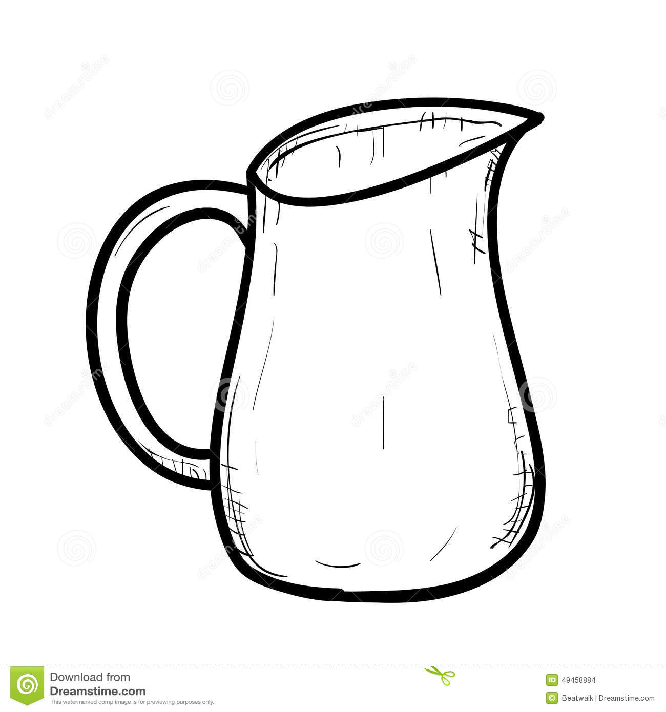 Clipart Of Jug Black And White.