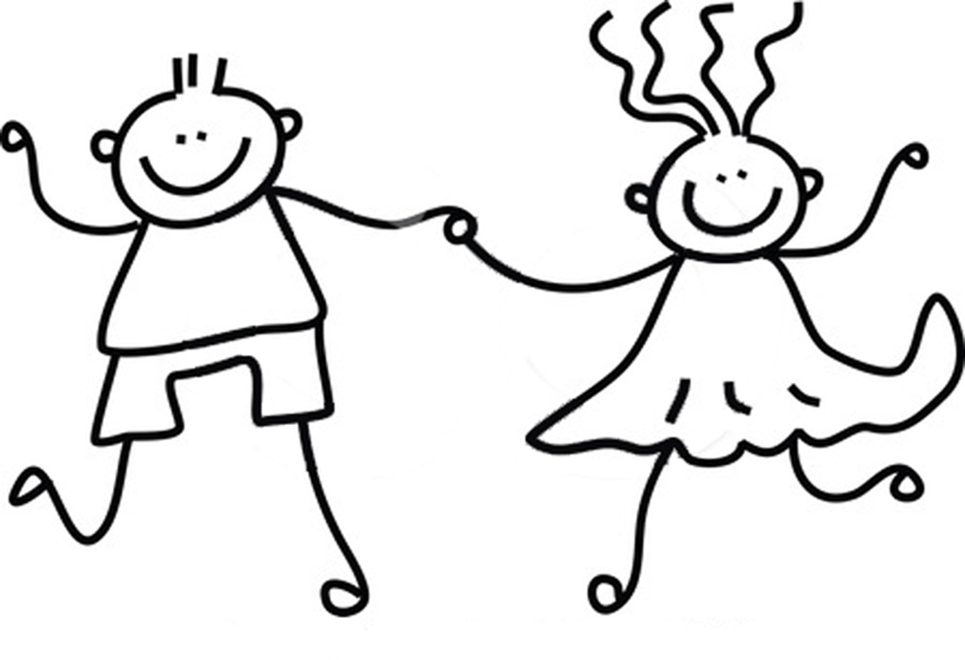 Children Clip Art Black And White 44351.