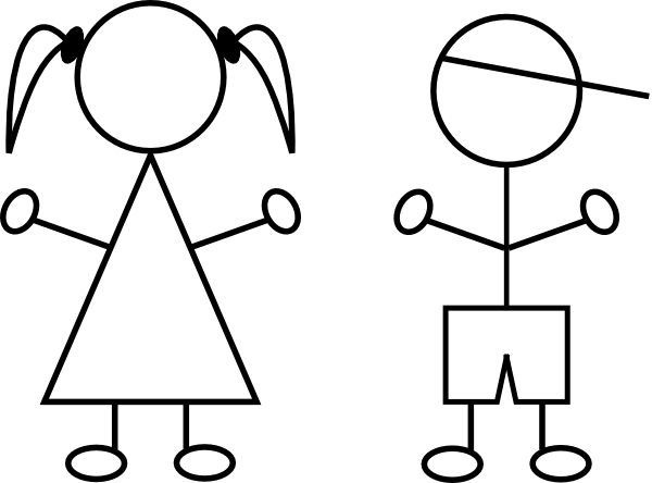 Free Clip Art Children Black And White.