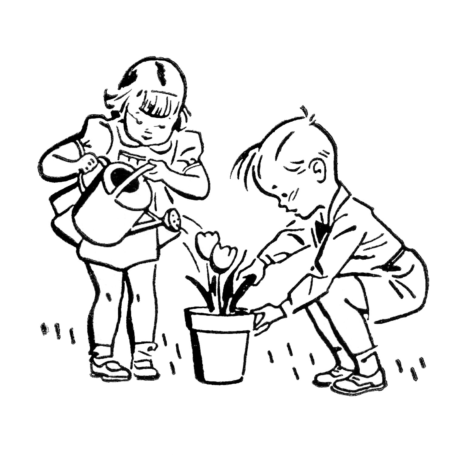 Child Drawing Clipart Black And White & Free Clip Art Images #10511.