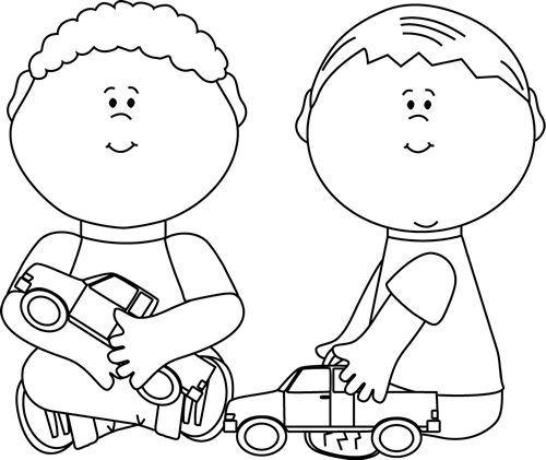 2 Year Old Boy Black And White Clipart & Clip Art Images #14603.