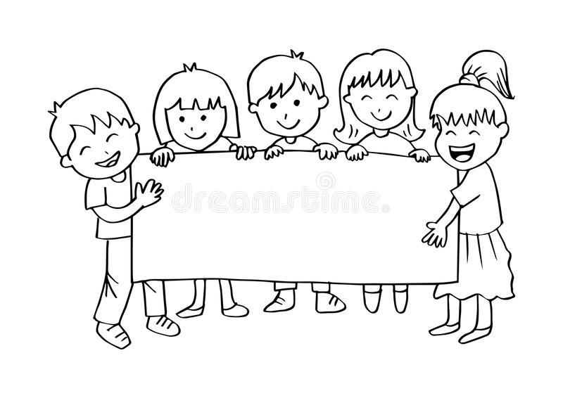 Kids Banner Stock Illustrations.