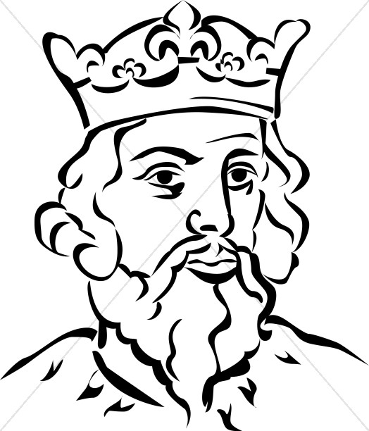 Black And White Clipart King.