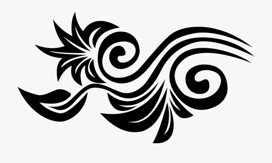Flower Vector Black White Png 6 Png Image.