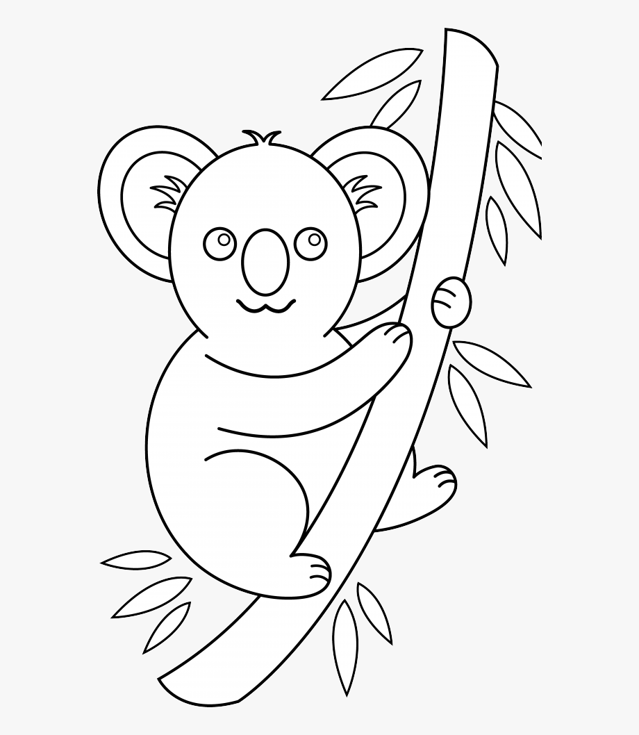 Koala Bear Clipart Black And White.