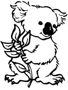 Black And White Clipart Koala.