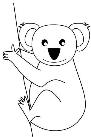 Free Black And White Koala Bear, Download Free Clip Art.