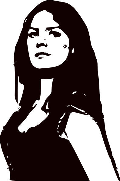 Women Black And White Clip Art at Clker.com.