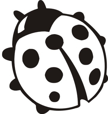 Cute Ladybug Clipart Black And White.