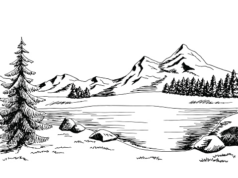 Free Lake Black And White Clipart, Download Free Clip Art.