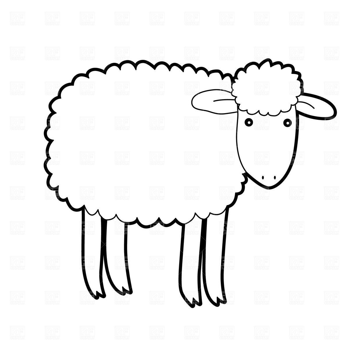 Lamb Clipart Black And.
