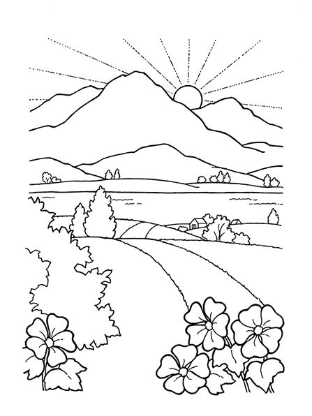Free Landscape Clipart Black And White, Download Free Clip.