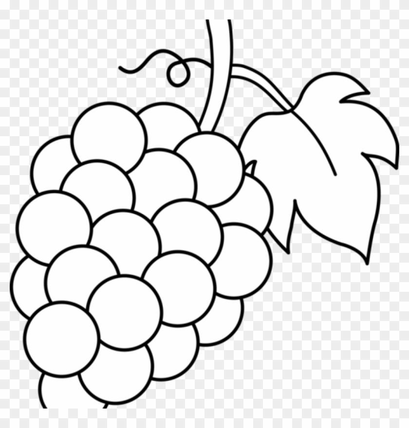 Grapes Clipart Grapes Black And White Li #136425.