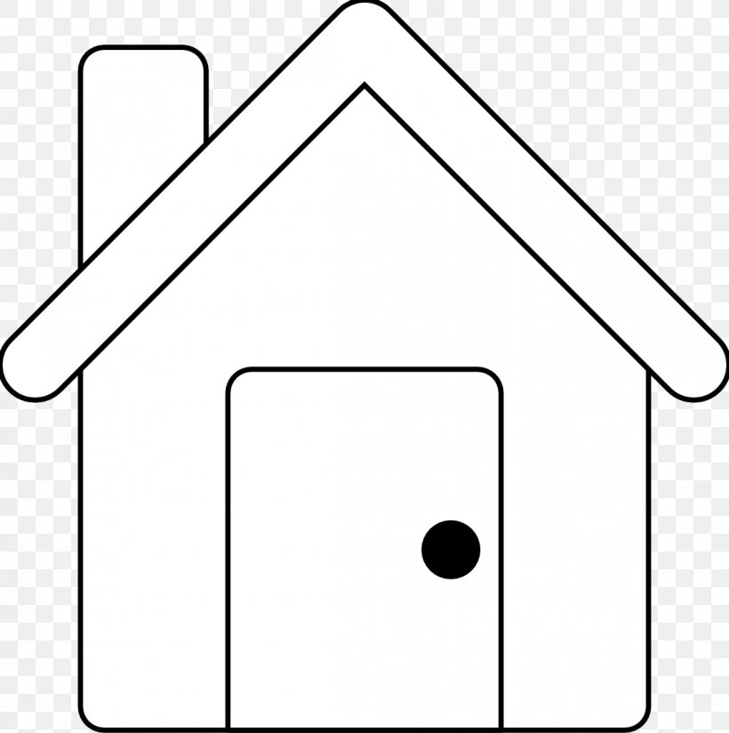 Black And White Line Art House Clip Art, PNG, 1111x1117px.