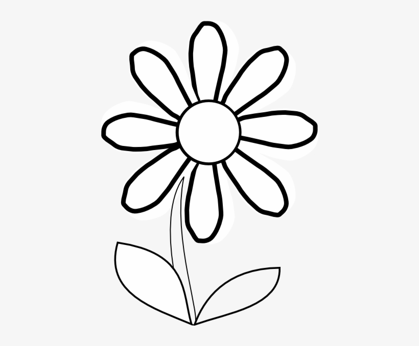 Flower Clip Art Black And White Group (+), HD Clipart.