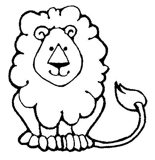 Lion Clipart Bw.