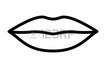 6277 Lips free clipart.