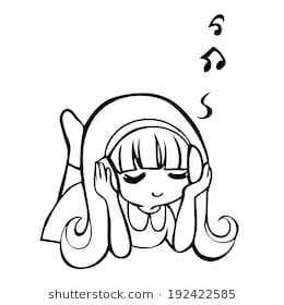 Listening to music clipart black and white 4 » Clipart Station.