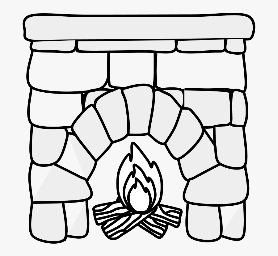 Transparent Log Fire Clipart.