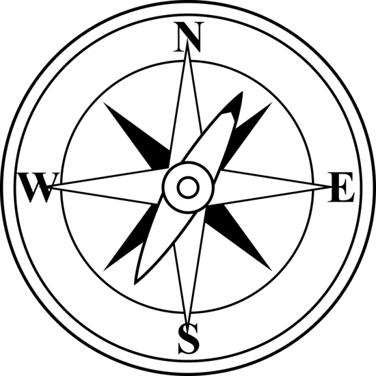 Black and White Compass.