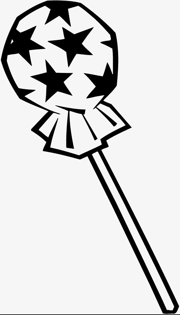 Black And White Clipart Lollipop.