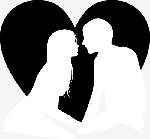 Black Couple Love Cartoon, Love Clipart, Cartoon Clipart, Love PNG.