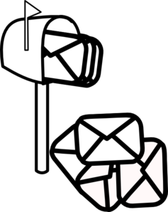 Free Mail Clipart Black And White, Download Free Clip Art.