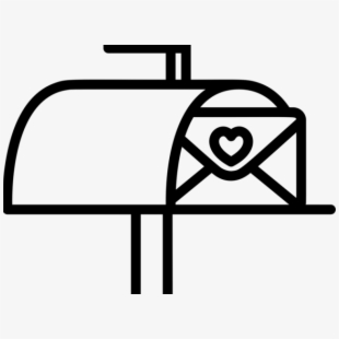 Mailbox Vector Black And White Png.