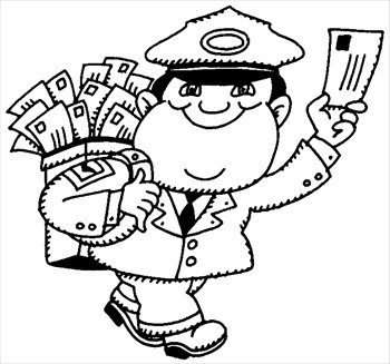Free Mailman Clipart Black And White, Download Free Clip Art.