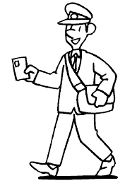 Image result for postman clipart black and white.