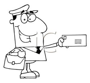 Mail Clipart Black And White.