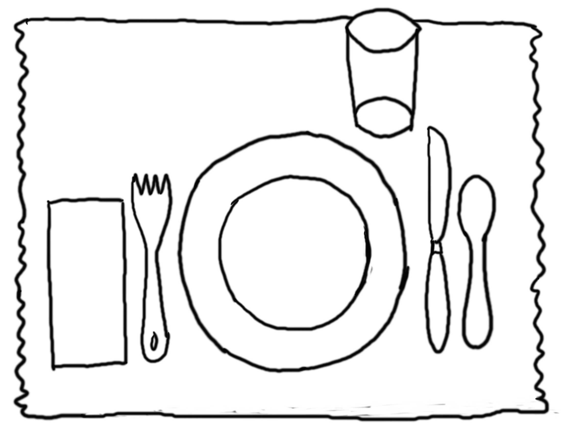 Table Manners Coloring Pages.