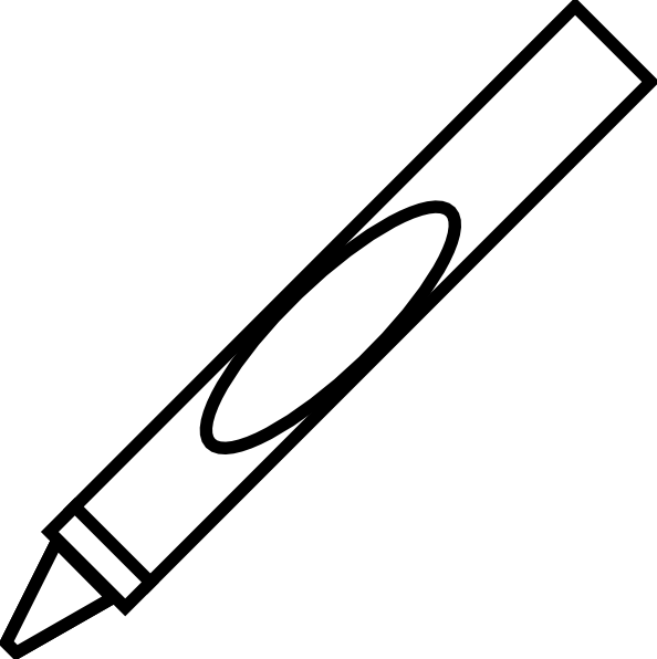 Markers clipart black and white, Markers black and white.