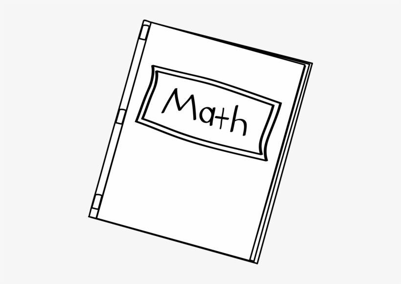 Black And White Math Book Clip Art.