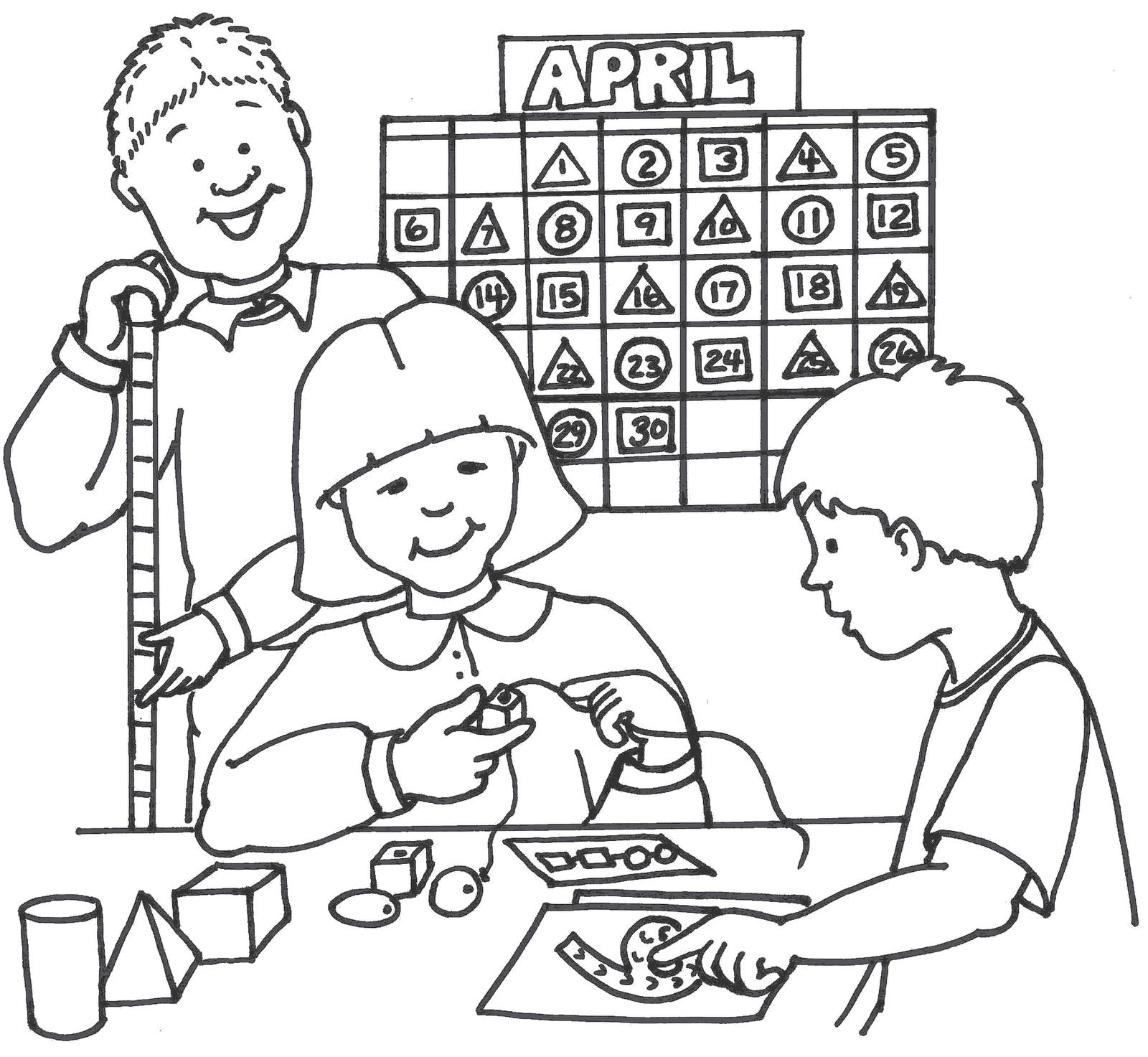 School Clip Art Math Game.
