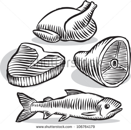 Meat black and white clipart 3 » Clipart Station.