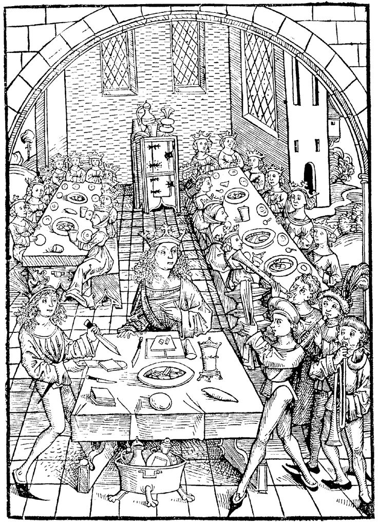 Black And White Clipart Medieval Food.