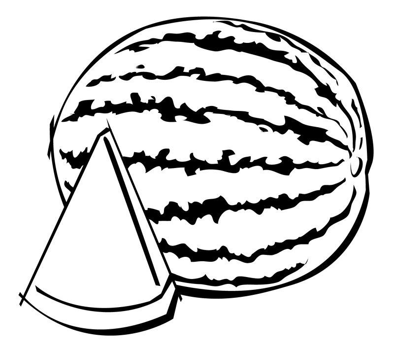 Free Watermelon Black And White Clipart, Download Free Clip.