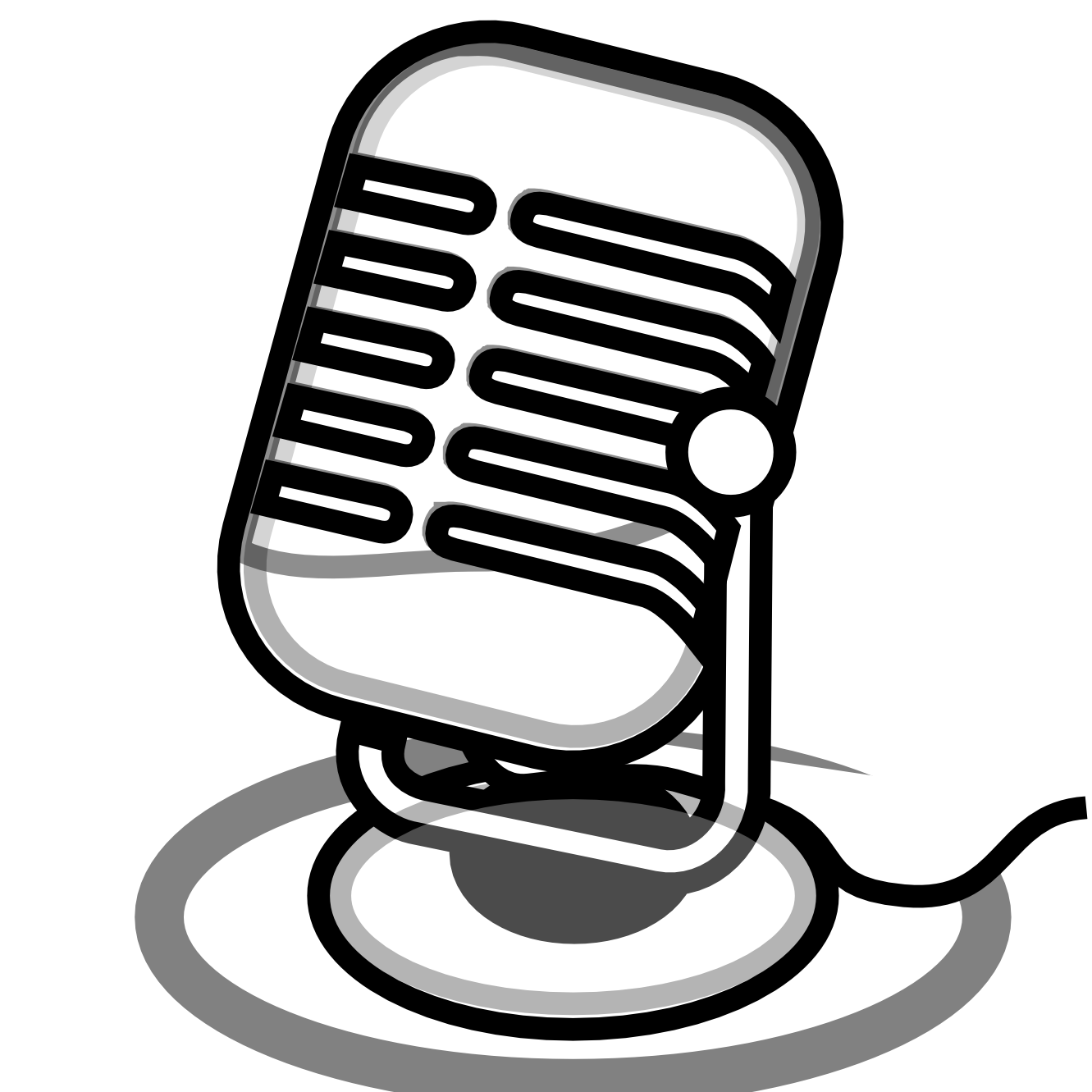 Free Black And White Microphone Clip Art, Download Free Clip.