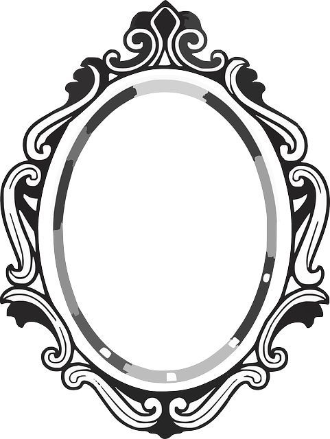 line drawing mirror frame.