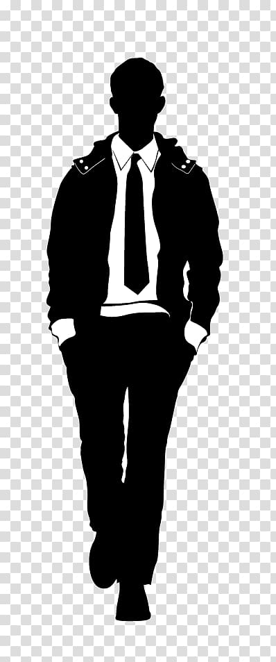 Black and white suit illustration, Model Male Fashion, Male.