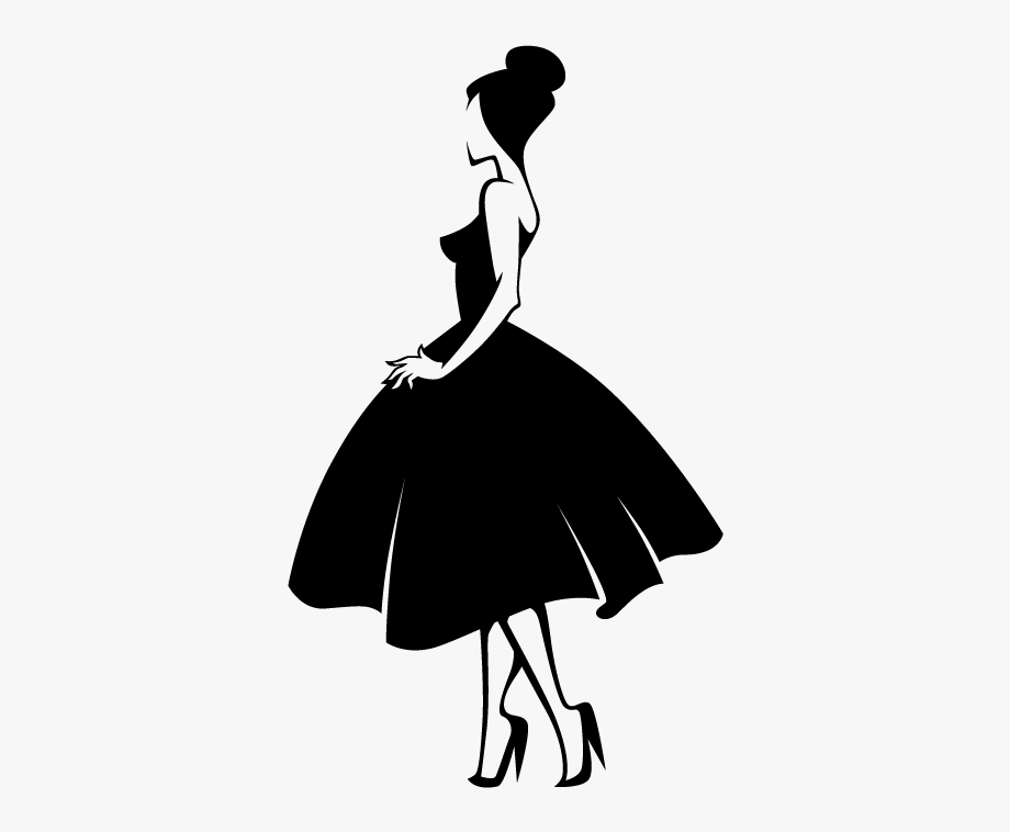 Fashion Silhouette Model.